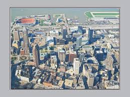 Map Of Cleveland Ohio Downtown Cleveland Ohio From So High O In The Air A Photo On