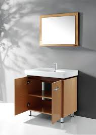 Legion WC Contemporary Bathroom Vanity Solid Plywood With Wood - Solid wood bathroom vanity uk