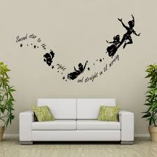 popular peter pan quote wall sticker buy cheap peter pan quote peter pan couple stickers second star to the right kids sticker wall quote art room decorations