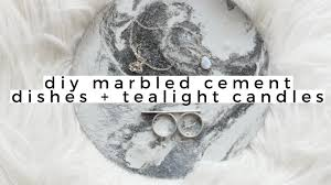 diy home decor marble cement jewelry dishes tealight candles