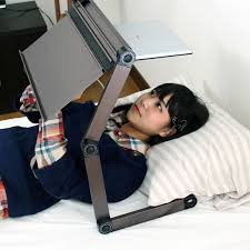 lay down computer desk upside down gorone desk lets you use laptop while laying in bed