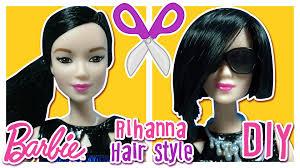 rihanna hair tutorial for barbie doll u2013 barbie haircut tutorial