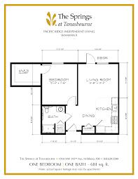 deck floor plan senior apartment floor plans the springs at tanasbourne