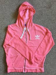 light pink adidas sweatshirt adidas light pink distressed hoodie uk size 8 10 genuine new retro