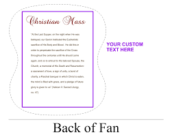 church fans personalized personalized church fans color free personalization