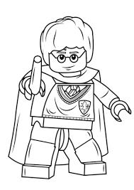 harry potter avec la baguette magique lego coloriage sorciere