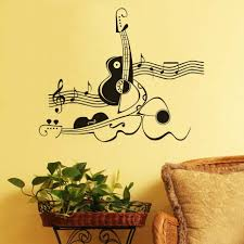 compare prices on mural guitar online shopping buy low price creative abstract guitar and violin wall sticker musical note wall decal removable art mural vinyl wall