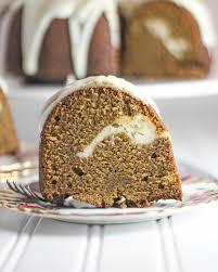lemon glazed gingerbread pound cake with lemon cream cheese