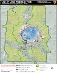 map of oregon near crater lake follow the cing at crater lake pacific crest