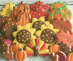 dolce happy thanksgiving decorated cookies happy