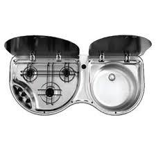 caravan sink with lid 8123 3 burner combination unit with 2 glass lids grasshopper