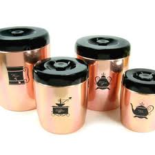 copper kitchen canister sets shop vintage kitchen canister sets on wanelo