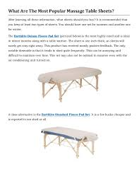 what is the best massage table to buy the definitive guide to massage table sheets