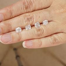 rectangle cushion cut engagement rings creating three cushion cut engagement ring for