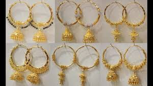 gold hoops earrings 22k gold hoop earrings with jhumka hoops earrings designs