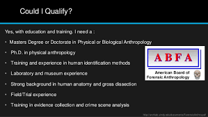 Human Anatomy Careers Medical Careers Powepoint Forensic Anthropology