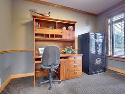 craftsman home office with carpet u0026 chair rail in farmington mn