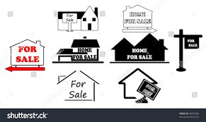 Selling House Simple Signs Selling House Stock Vector 30073558 Shutterstock