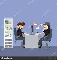 employé de bureau personnages dessins animés employé bureau client intérieur