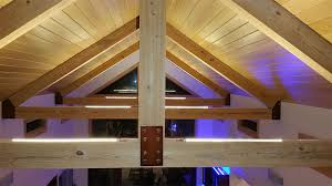 Lights For Ceilings Ultra Warm White Led Strips Light Up The Vaulted Ceilings Of This
