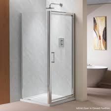 Easy Clean Shower Doors Ascent Showering 8mm Infold Doors With Easy Clean Glass Ascent