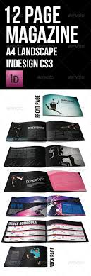 12 page brochure template 12 page black themed brochure a4 landscape by artyinc graphicriver