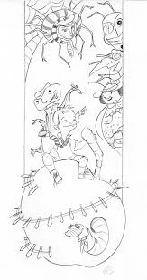 james and the giant peach coloring page or book cover great