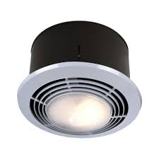 Heat Lights Bathroom 70 Cfm Ceiling Exhaust Fan With Light And Heater 9093wh The Home