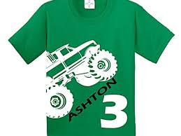 monster truck birthday shirt craaus etsy kids party