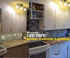 how to install hardwired under cabinet lighting led tape under cabinet lighting no soldering 9 steps with