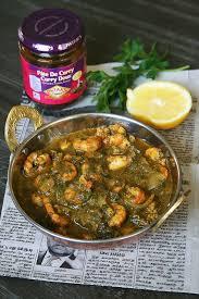 ma cuisine indienne curry de crevettes et épinards ma cuisine indienne