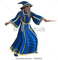 blue wizard wand right 3d illustration stock illustration
