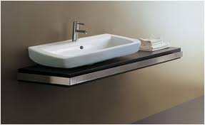 an accessible bathroom sink counter for handicapped people
