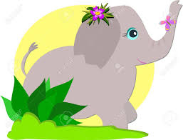 elephant and butterfly royalty free cliparts vectors and