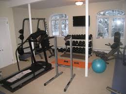 interior wonderful home gym decorations with white painted wall
