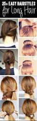 Long Hairstyles Easy Updos by From Classy To Cute 25 Easy Hairstyles For Long Hair U003e U003e U003e U003efor When