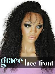 curl in front of hair pic lace front wig kinky curl gracelacewigs