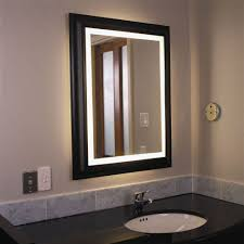 bathroom mirrors with lights and demister stainless steel frame