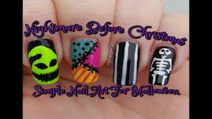 freehand cloud design nail art tutorial nightmare before christmas nail art tutorial for halloween