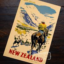 vintage poster picture more detailed picture about colossal colossal squid fishing new zealand nz landscape travel retro vintage poster decorative diy wall art home