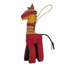 kikoy fabric stuffed giraffe ornament the