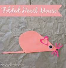 folded heart mouse craft for kids mouse crafts valentine heart
