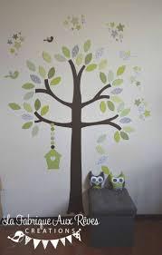 best 25 stickers arbre chambre bebe ideas on pinterest stickers stickers arbre vert anis amande kaki chocolat marron gris nichoir etoiles oiseaux feuilles decoration chambre