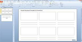 free simple storyboard template for powerpoint