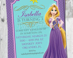 tangled invitation tangled birthday party invitation