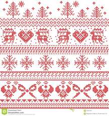 Free Cross Stitch Christmas Ornament Patterns Scandinavian Nordic Xmas Pattern With Reindeer Rabbits Xmas Trees