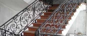 Iron Grill Design For Stairs Staircase Railing Wrought Iron Railings Philippines Glass
