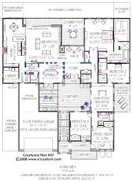 House Plans With Game Room Modern Courtyard House Plan Building Plans Car Garage And House