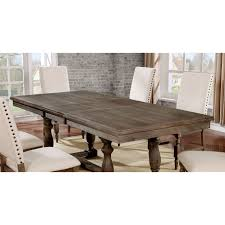 90 Dining Table Furniture Of America Isla Rustic Wire Brushed Grey 90 Inch Dining