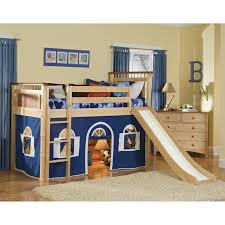 Cool Boy Bunk Beds Bedroom Toddler Loft With Slide Box Wildon Home And